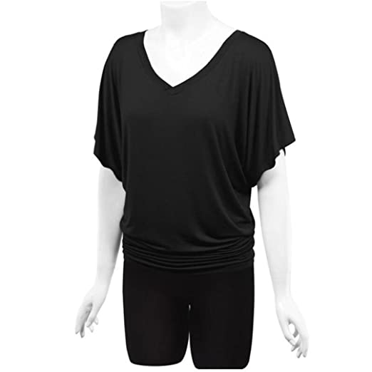 Amazon.com: T Shirts for Womens, FORUU Solid Casual Bats Sleeves Deep V Neck Blouse Tops Tee: Clothing