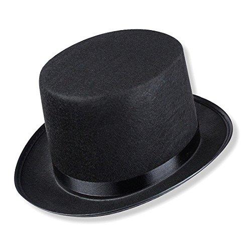 S/O Zylinder Hut Schwarz für Erwachsene Chapeau Zylinderhut