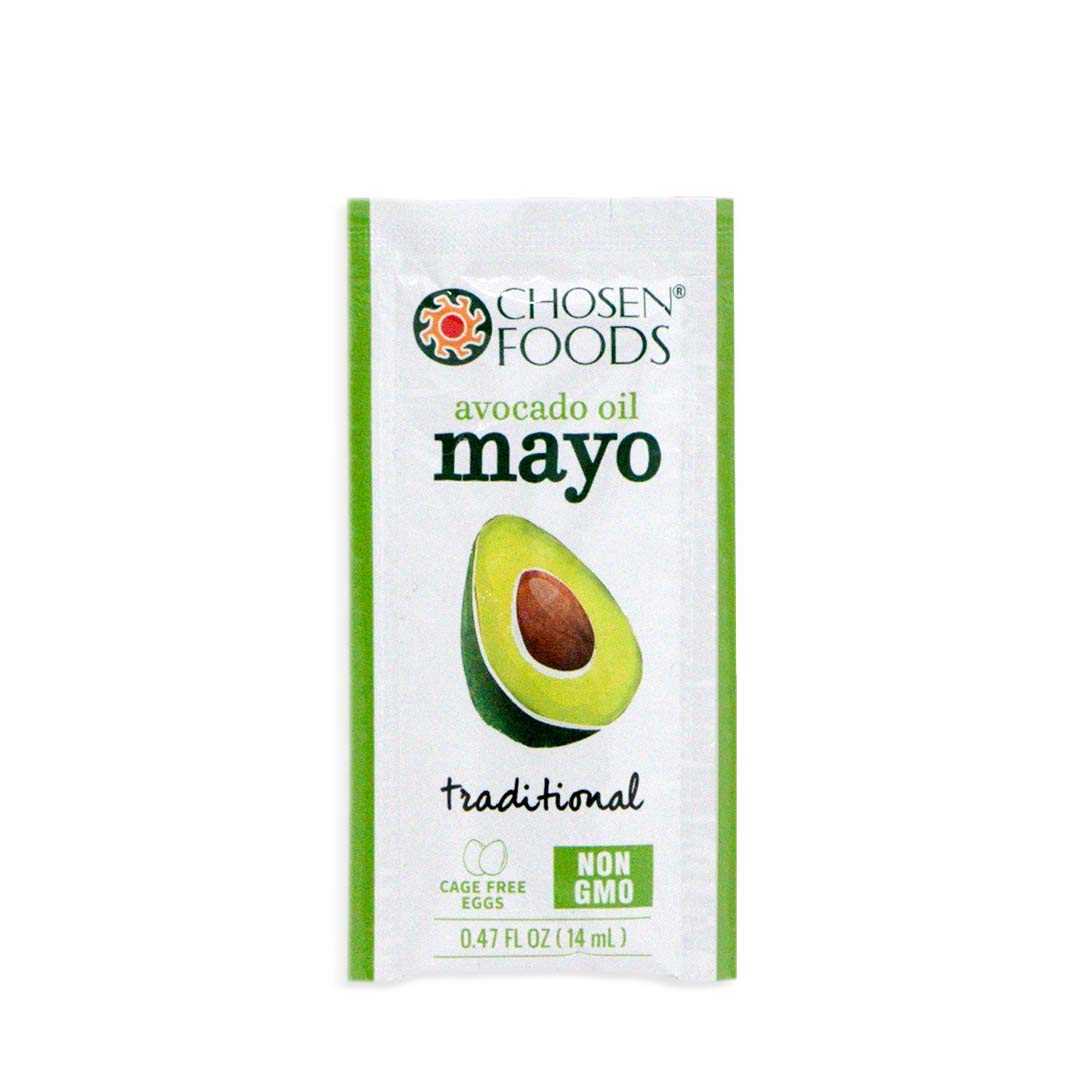 Chosen Foods Avocado Oil Mayo Packets, 24 Count, Single Serve for On-The-Go Use, Work, School, Travel, Road Trips, Bag Lunches