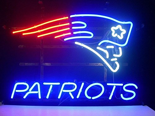 New England Patriots Neon Sign - UrbyTM PATRIOTS Neon Sign Neon Light Beer Bar Pub Recreation Room Windows Wall Sign Display Signboards 18''x14'' A30-01