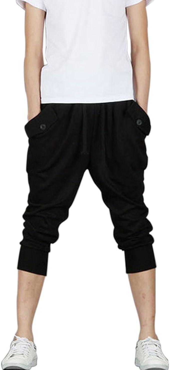 Mens Sport Sweat Pants Shorts Harem Dance Baggy Jogging Training Trousers USA