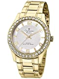 watch champion - Champion CN29329H Women's Watch Crystal Accented Bezel With Gold-Tone Stainless Steel