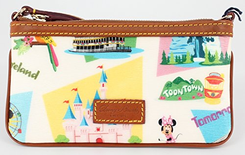 Dooney & Bourke Slim Wallet - Disney Dooney & Bourke Disneyland Retro Slim Wristlet Wallet Purse with Strap