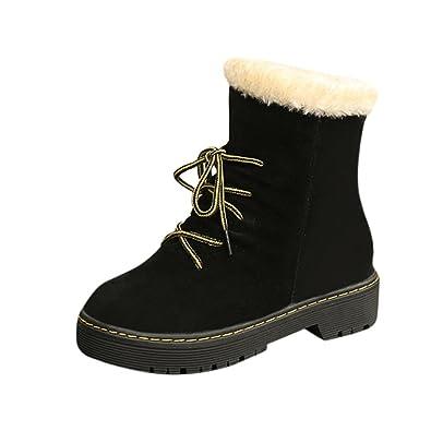 Elevin(TM)2017Women Winter Warm Fashion Ankle Flat Heel Martin Snow Boots Shoes
