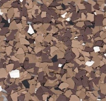 American Abrasive Supply, Vinyl Chip Blend Brown Blend 1/4'' VCPBBROWN15