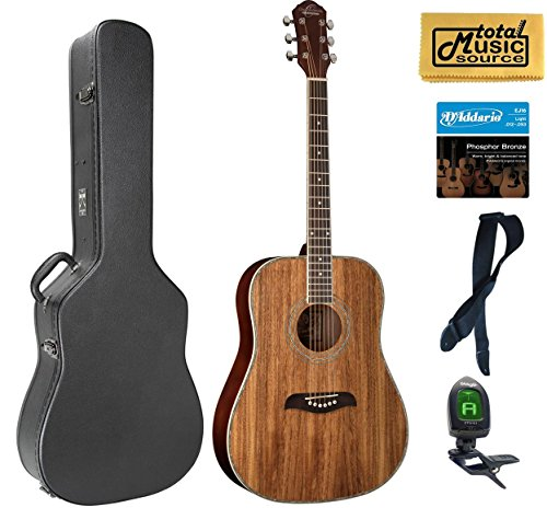 Oscar Schmidt OG2 Dreadnought Acoustic Guitar - Koa Case Bundle, OG2KOA CASEPACK ()