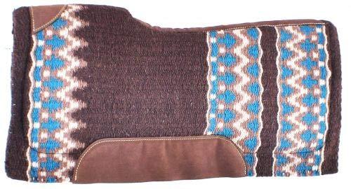 Showman 34″ x 36″ Brown, Cream & Turquoise Navajo Print Memory Felt Bottom Saddle Pad