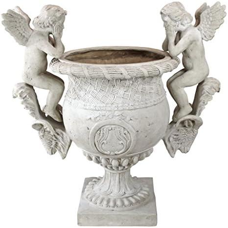Design Toscano NE8867001 Versailles Cherub Urn Statue,ancient ivory