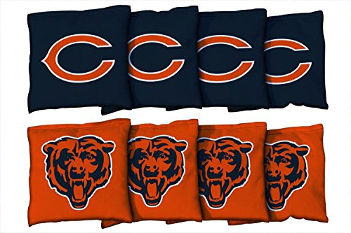 Victory Tailgate Chicago Bears NFL Cornhole Game Bag Set (8 Bags Included, Corn-Filled)