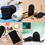 Cotton Blend Drawstring Bags 12-Pack For Storage