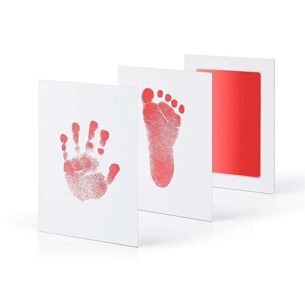 Mallalah Juego de impresi/ón para pies o manos de beb/ésCleanTouch Almohadilla de tinta con 2 tarjetas de impresi/ón de alta calidad Impresi/ón sin contacto con tinta sin contacto Azul