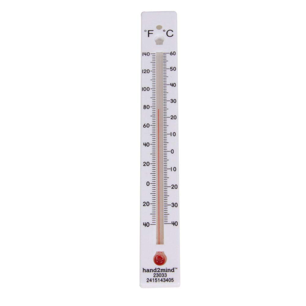 hand2mind Low-Range Safety Thermometers for Indoor Science Use Pack of 6 Dual-Scale Mercury-Free