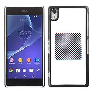 MobileHut / Sony Xperia Z2 D6502 D6503 D6543 L50t L50u / Raster Art Print Minimalist White / Delgado Negro Plástico caso cubierta Shell Armor Funda Case Cover
