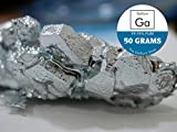 #9: GALLIUM METAL 50 GRAMS - Melting Metal Gift - 99.99% PURE GALLIUM - Excellent for DIY experiments! PRIME 3-DAY SHIPPING GUARANTEE! - By The Gallium Shop U.S.A