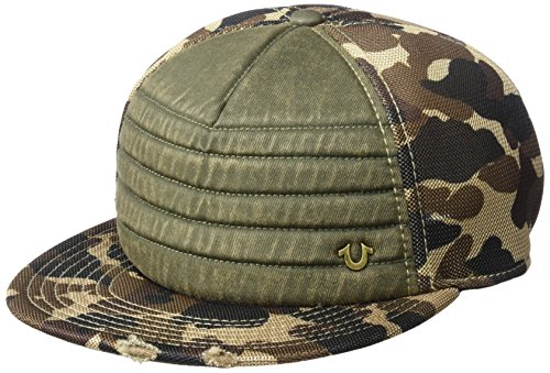 True Religion Men's Camo Mesh Baseball Cap, Olive, One - Cap Fitted True