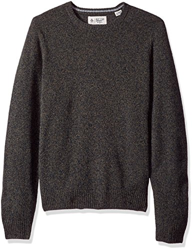 Original Penguin Men's Solid Lambswool Crew Sweater, Dark Sapphire, X-Large ()