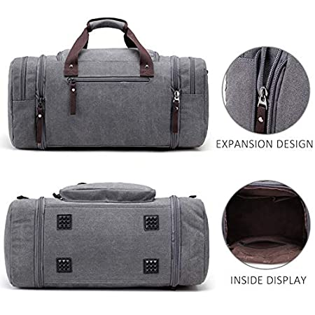 Amazon.com: Arrive Men Travel Luggage Hand Bags Canvas Duffel Shoulder Fashion Large Capacity Overnight Tote Pocket: Kitchen & Dining
