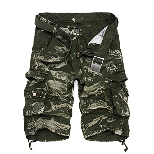 Diot New 2018 Men Shorts Casual Loose Short Pants Camouflage Military Summer Style Knee Length Shorts Men