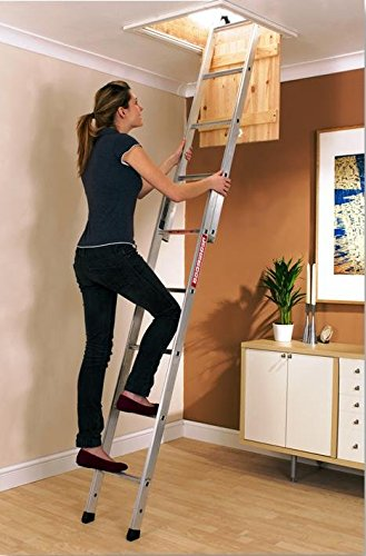 Youngman 302340 2-Section Spacemaker Loft Ladder