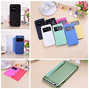 YULIN Solid Color Full Body Leather and Plastic Case for iPhone 6(Assorted Colors) , Black