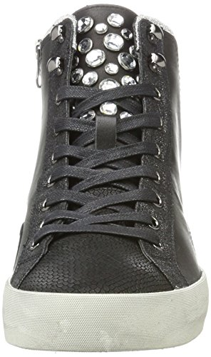 a Alto Donna London Crime Collo Sneaker Nero Schwarz 25002a17b qOn6pS
