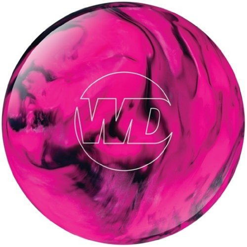 White Dot Bowling Ball- Pink/Black