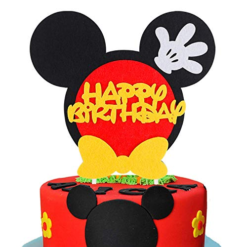 PANTIDE Mickey Inspired Birthday Cake Topper for Any Age, Party Cake Decoration Supplies -
