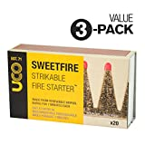 UCO SweetFire Tinder Matches - 3 boxes (60 pieces)