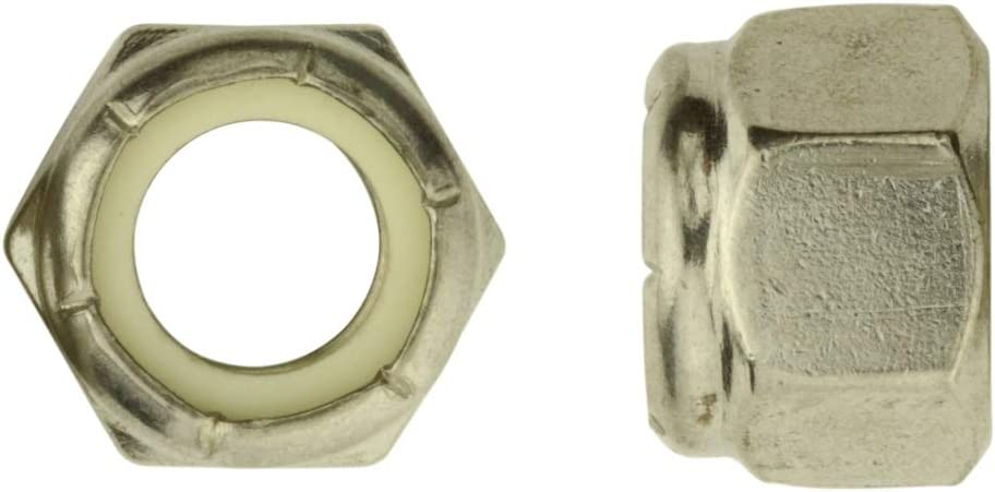 20x Wrenchturn M8 304 Stainless Steel Nylon Lock Nuts M8x1.25 DIN 985