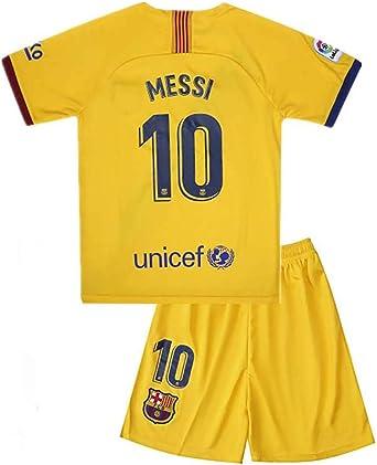 Amazon Com Messi Barcelona Jersey 10 Soccer T Shirt 2019 2020 Season Home Soccer Shirt Fc Shirt For Kids Clothing