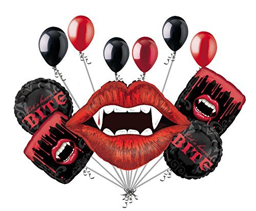 11 pc Fangtastic Vampire Bite Balloon Bouquet Party