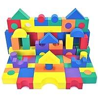EWONDERWORLD Espuma no tóxica de 70 piezas, no reciclada, de calidad asombrosa para niños: suave, de calidad, impermeable, brillante, segura y silenciosa