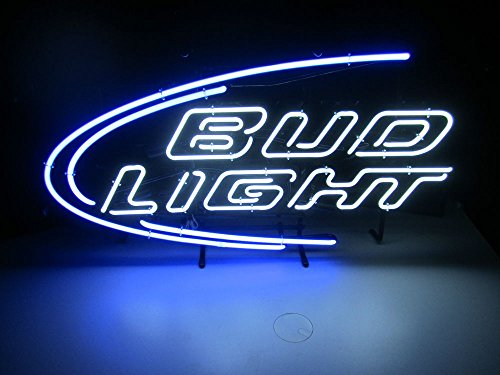 "Desung New 20""x16"" Bud-Light Neon Sign (Multiple Sizes Available) Man Cave Signs Sports Bar Pub Beer Neon Lights Lamp Glass Neon Light CX207"