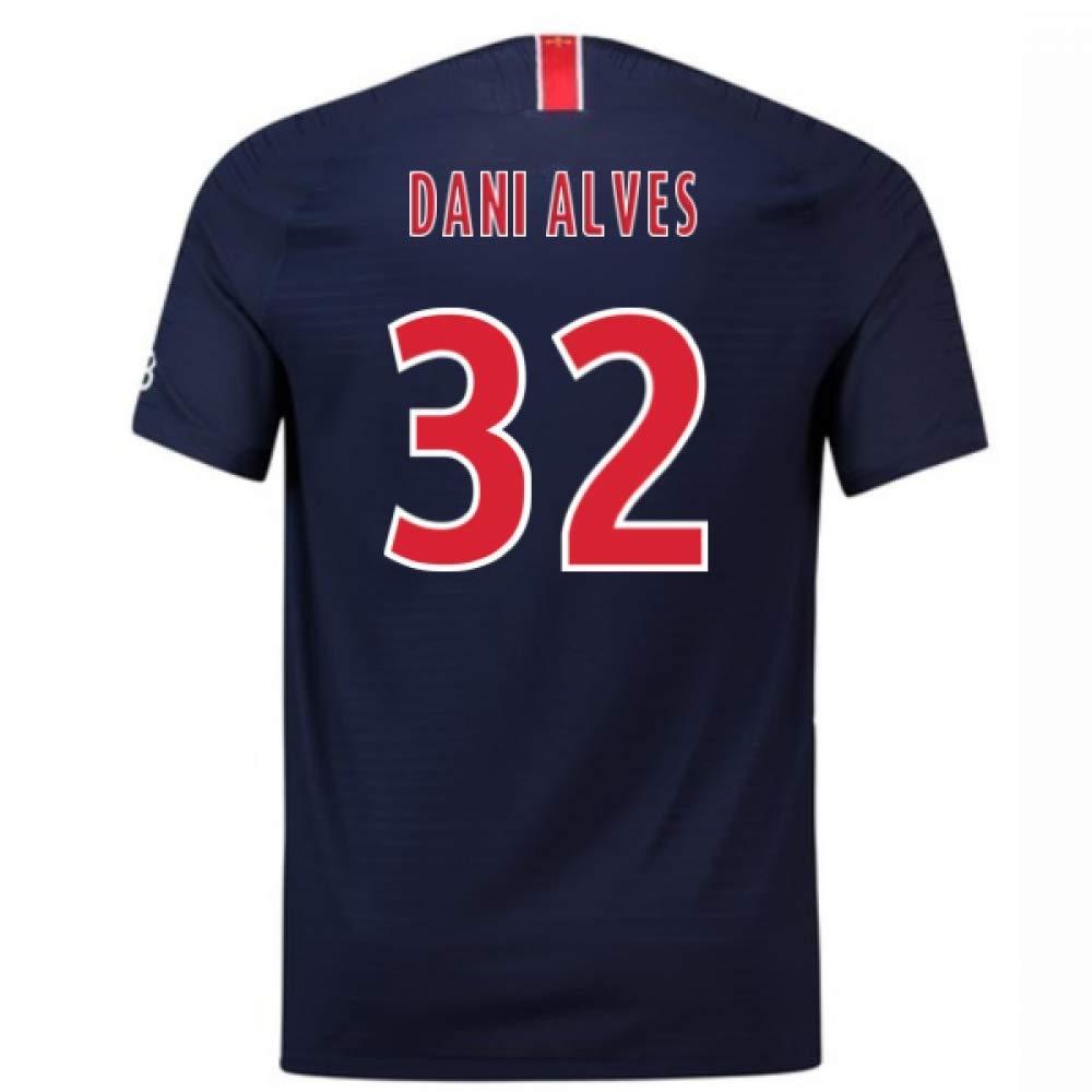 2018-2019 PSG Authentic Vapor Match Home Nike Football Soccer T-Shirt Trikot (Dani Alves 32)