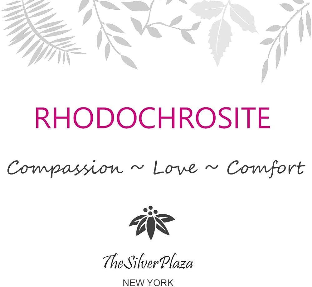 Rhodochrosite /& Sterling Silver Pendant Necklace