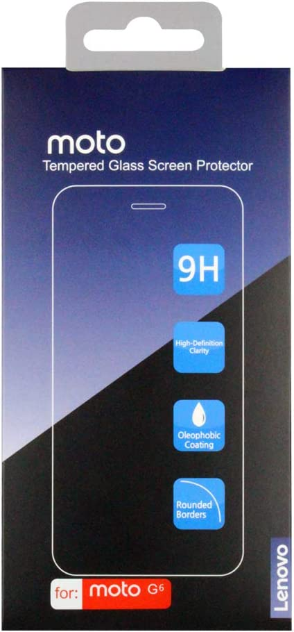 [2-Pack] Moto G6 Screen Protector, Lenovo Original Tempered Glass Screen Protector, Anti-Scratch, Anti-Fingerprint, Bubble-Free, Ultra Clear for Moto G6