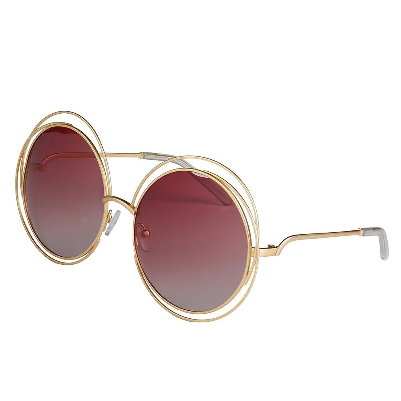 Mixshield Women's Oversized Polarized Metal Sunglasses