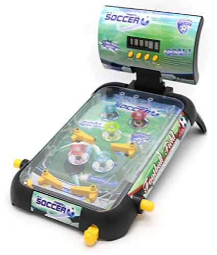 Little Treasures Pinball Game – Now play soccer on a green turf in the pinball style; ideal table board game for your 4+ child (Games Pinball Sports)