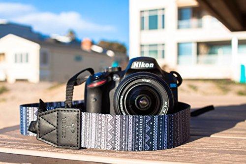 TETHER Camera Strap - Aztec design camera strap for DSLR or SLR camera, DSLR Camera Strap. Camera accessories. Canon camera strap. Nikon camera strap