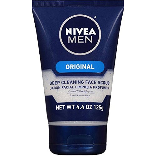 Deep Cleaning Face - NIVEA FOR MEN Original, Deep Cleaning Face Scrub 4.4 oz (Pack of 6)