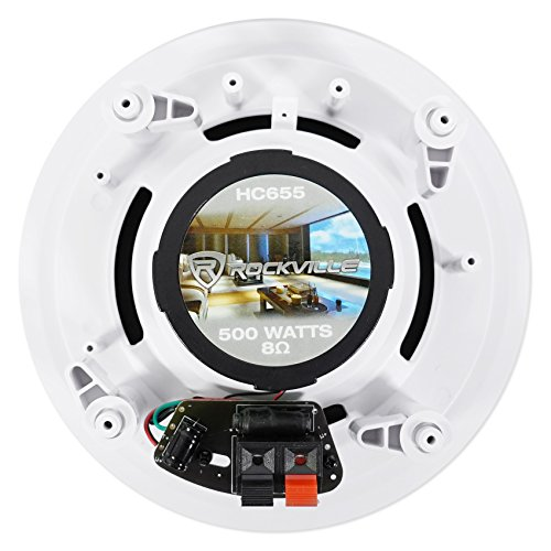 Rockville HC655 500 In-Ceiling Theater Speakers 8 Ohm