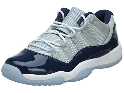 free shipping 1fdf5 353d8 Nike Boys Air Jordan 11 Retro Low BG Georgetown Grey Mist White-Midnight  Navy