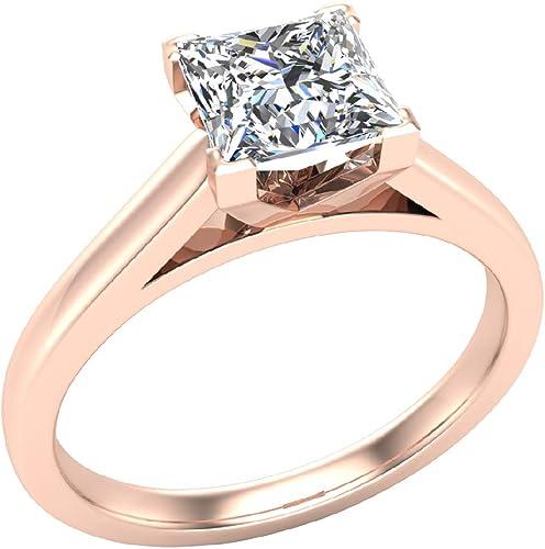 Anniversary Ring Round Cut Diamond SI1 G 0.20 Carat 14K White Yellow Rose Gold