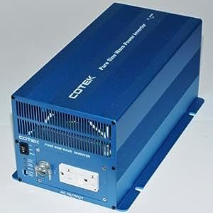 COTEK SK2000-112 2000 WATT 12 VOLT HEAVY DUTY PURE SINE POWER INVERTER WITH DUAL GFCI OUTLETS
