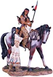 Native American Family Collectible Indian Figurine Sculpture Statue