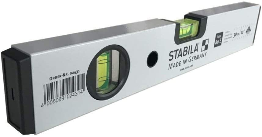 Stabila Niveau /à bulle Type Aluminium 80/E tr/ès r/ésistant eau 30/cm Balances en aluminium
