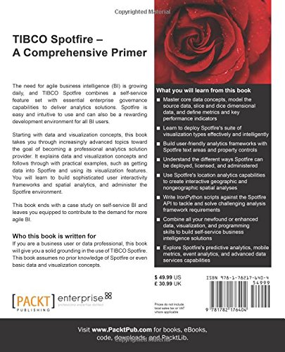 tibco spotfire a comprehensive primer livros na amazon brasil