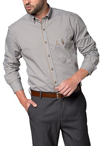 ETERNA long sleeve Shirt MODERN FIT Poplin checked Verde