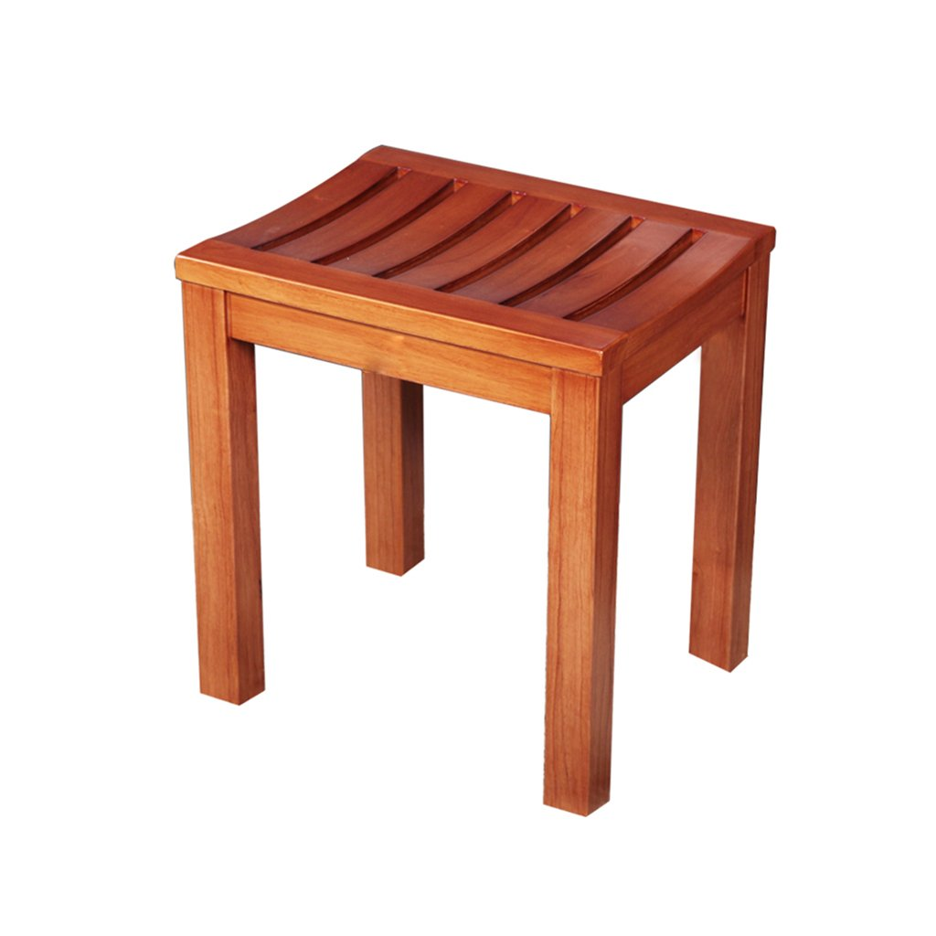 Amazon Com Bathroom Stool Solid Wood Stool Cedar Wood Bench Stool