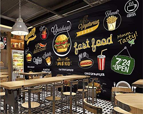 Murales Hd Pintado A Mano Pizarra Pizza Hamburguesa ...